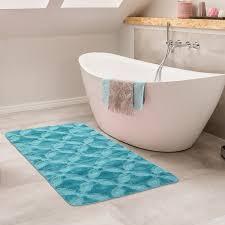 badematte kurzflor teppich badezimmer antirutsch waschbar