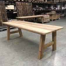 tisch esstisch küchentisch teak altholz massivholz