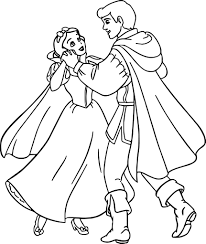 Sit Snow White Prince Coloring Page Kissed By The