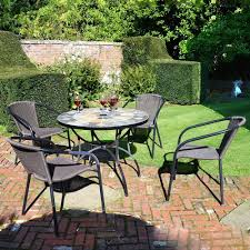 4 Seater Garden Dining Set Stone Steel Table Resin Weave Chair ... All Weather Outdoor Patio Fniture Sets Vermont Woods Studios Small Metal Garden Table And Chairs Folding Cafe Tables And Chairs Outside With Big White Umbrella Plant Decor Benson Lumber Hdware Evaporative Living Ideas Architectural Digest Superstore Melbourne Massive Range Low Prices Depot Best Large Round Outside Iron Home Marvellous How To Clean Store Garden Fniture Ideas Inspiration Ikea