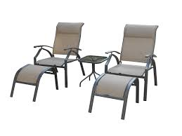 Backyard Classics Astoria 5-Piece Patio Seating Set With Adjustable Sling  Chair, Ottomans And Glass Table Top Patio Chairs At Lowescom Outdoor Wicker Stacking Set Of 2 Best Selling Chair Lots Lloyd Big Cushions Slipcove Fniture Sling Swivel Decoration Comfortable Small Space Sets For Tiny Spaces Unique Cana Qdf Ding Agio Majorca Rocker With Inserted Woven Alinium Orlando Charleston Myrtle White Table And Seven Piece Monterey 3 0133354 Spring China New Design Textile
