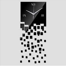 Home Decoration Mirror Wall Clock Modern Design Luxury DIY Watch Clocks3D Relogio