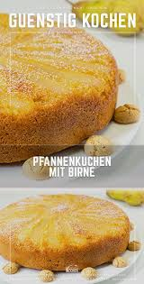 das rezept für den pfannenkuchen mit birne zeigt ganz