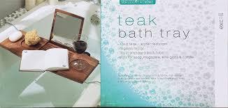 Teak Bathtub Tray Caddy by Amazon Com Excell Teak Bath Tray Home U0026 Kitchen