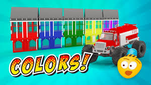 Fire Brigade's Monster Trucks   Learn Colors With Monster Fire ...