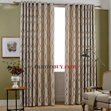 Modern Jacquard Striped Noise Reducing Dining Room Curtains Loading Zoom