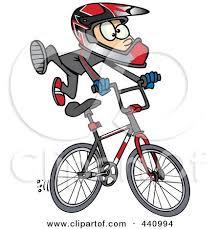 Royalty Free RF Bmx Bike Clipart Illustrations Vector Graphics 1