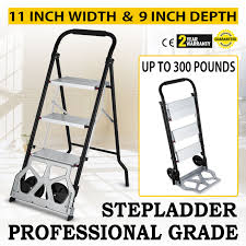 UP 3 STEP Ladder Hand Truck Car Trolley Luggage Aluminium Work ... Milwaukee Hand Trucks 2in1 Truck 733 Do It Best Steel Convertible Lowes Heavyduty Farm Ranch Ultimate Guide To The Moving Dolly Top 5 In 2018 Reviews And With Aliexpresscom Buy Bestequip 2 In 1 Alinum 600 Lb Movable Fniture Insidehook Platform Dollies Material Handling Equipment Home Depot 800