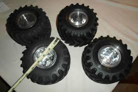 100 Rc Truck Wheels RC Custom Aluminum Monster Wheels And Tire Set Tamiya