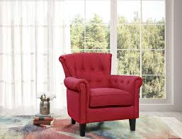 Topline Home Furnishings Red Accent Chair