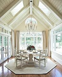 Arched Ceiling Exposed Rafter Beams Add Character Vaulted Lighting Ideas