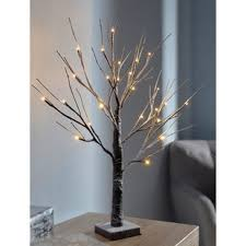 Pre Lit LED Twig Christmas Tree With Snow Effect