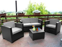 canapé de jardin 2 places salon de jardin ii en résine moulée 2 1 1