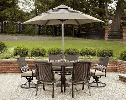 Sears Patio Furniture Cushions by La Z Boy Outdoor Mckenna 7pc Dining Set Outdoor Living Patio