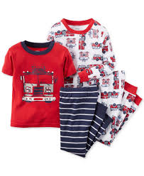 100 Fire Truck Pajamas Carters Little Boys 4Piece Truck Pajama Set Products