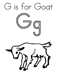 Goat Letter G Is For Coloring Pages