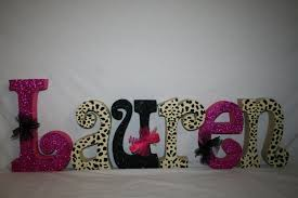 Leopard Print Bedroom Decor by Teen Name Letters Wooden Letters 6 Letter Set Wall Letters