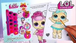 LOL Surprise Dolls Coloring Book Sugar Queen L