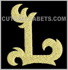 Letter L Cute Alphabets Embroidery Fonts