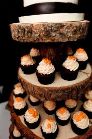 Rustic Wood Tree Slice 4 File Cupcake Stand For By Postscripts