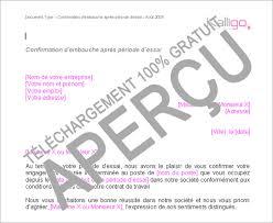 periode d essai cadre modèle lettre de confirmation après période d essai exemple
