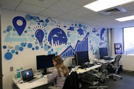 OfficeGraffiti Art Interior Mural In Small Office Idea Artistic Decor Ideas