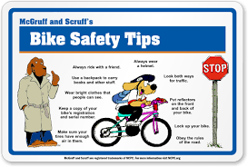 Holiday Coloring Pages Bike Safety Bicycle Education