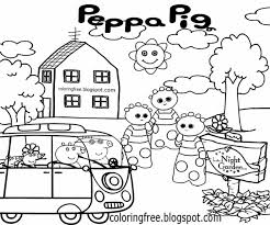 Haahoos In The Night Garden Printable Peppa Pig Colouring Pages For Preschool Kids Sketching Designs