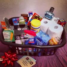 Diy Housewarming Gift Basket Include Household Necessities Like Baby Shower Ideas For Menu Large