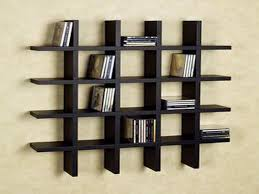 three cherry oak wood wall shelves with black knob on white