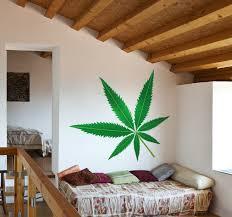 wandtattoo blumen marihuana blatt