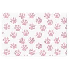 pink faux glitter pet paws pattern tissue paper craft supplies diy