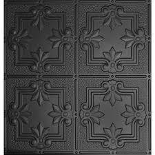 Black Acoustic Ceiling Tiles 2x4 by Black Drop Ceiling Tiles Ceiling Tiles The Home Depot