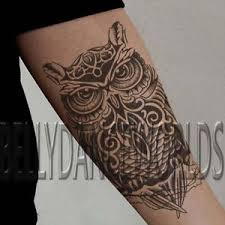 Image Is Loading MAORI HAWAIIAN POLYNESIAN OWL TRIBAL TEMPORARY TATTOO BODY