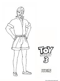 Go Back Gallery For Barbie And Ken Toy Story 3 Coloring Page