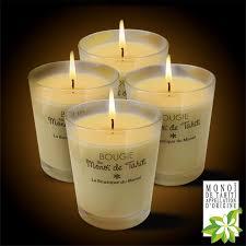 4 bougies parfumées au monoi ao tahiti 180g dont 1 gratuit la