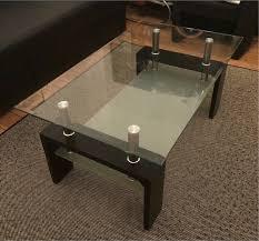 couchtisch schwarz glas glastisch tisch wohnzimmer