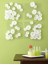 Easy Wall Decorations Homemade Four Panel White Mushroom Art Diy And Impressive