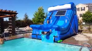 Blue Wave Pool Slide