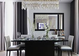 Chandelier Modern Dining Room by Dining Room Classic Gray Dining Room With Brown Dining Table And