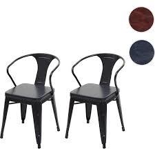 2x esszimmerstuhl mcw h10d stuhl küchenstuhl chesterfield metall kunstleder industrial gastronomie schwarz grau