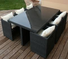 tables de jardin en resine ensemble de jardin resine mobilier de jardin en rotin maisondours