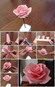 To Make Paper Rose Step By With Pictures Tissue Flower Tutorial