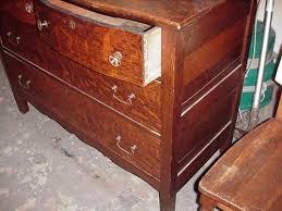 Tiger Oak Dresser Chest by Antique Tiger Oak Dresser W Mirror