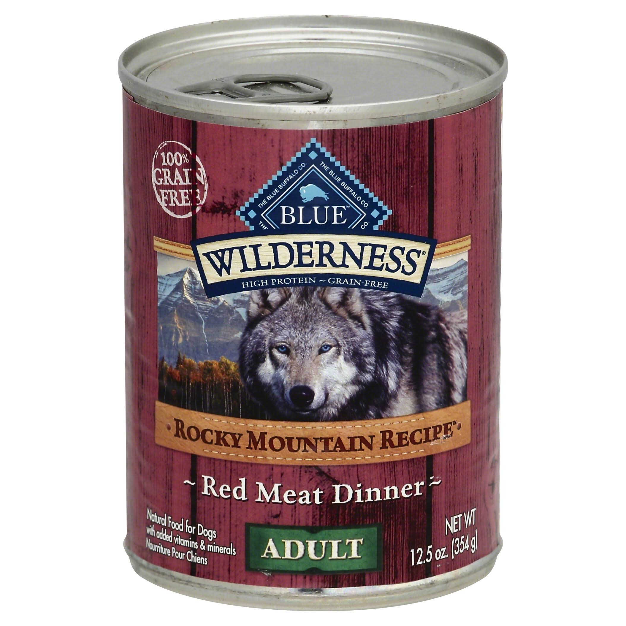 Blue Buffalo Wilderness Rocky Mountain Recipe Adult Red Meat Dog Food - 12.5oz