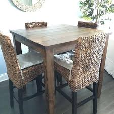 Rustic Table And Chairs Dining Room Best Bar Height Ideas On Tall Kitchen Throughout