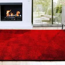hochflor teppich shaggy teppich prestige rot floordirekt rechteckig höhe 30 mm flauschig