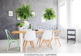 esszimmer spiegel zimmer möbliert stühle essen