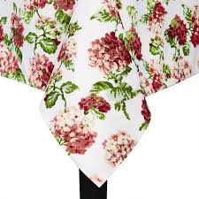 WaverlyR Pink Floral Tablecloth