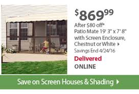 Patio Mate Screen Enclosure by Bjs Wholesale Club The Look Your Yard Deserves Milled